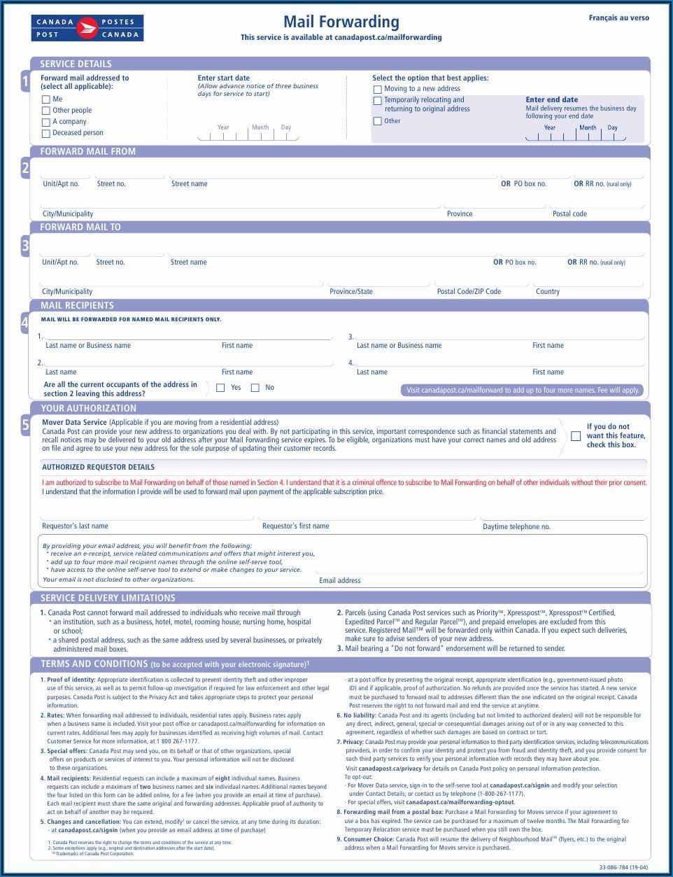 Self Addressed Prepaid Envelope Canada Post