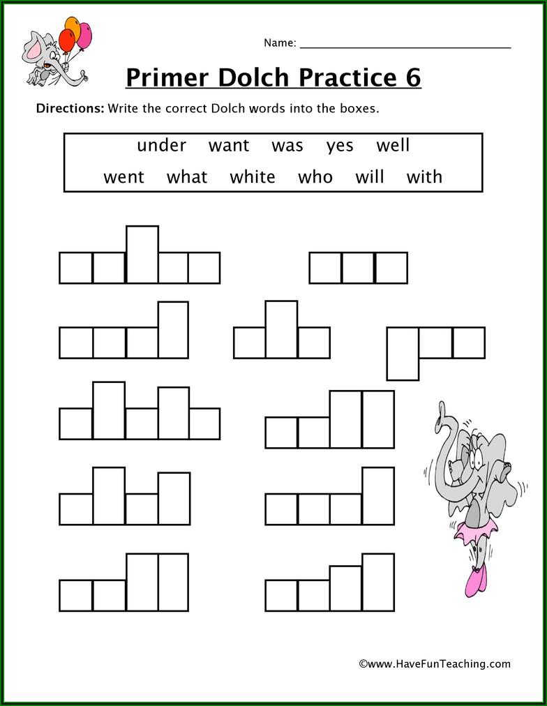 Sight Words Sentences For Kindergarten