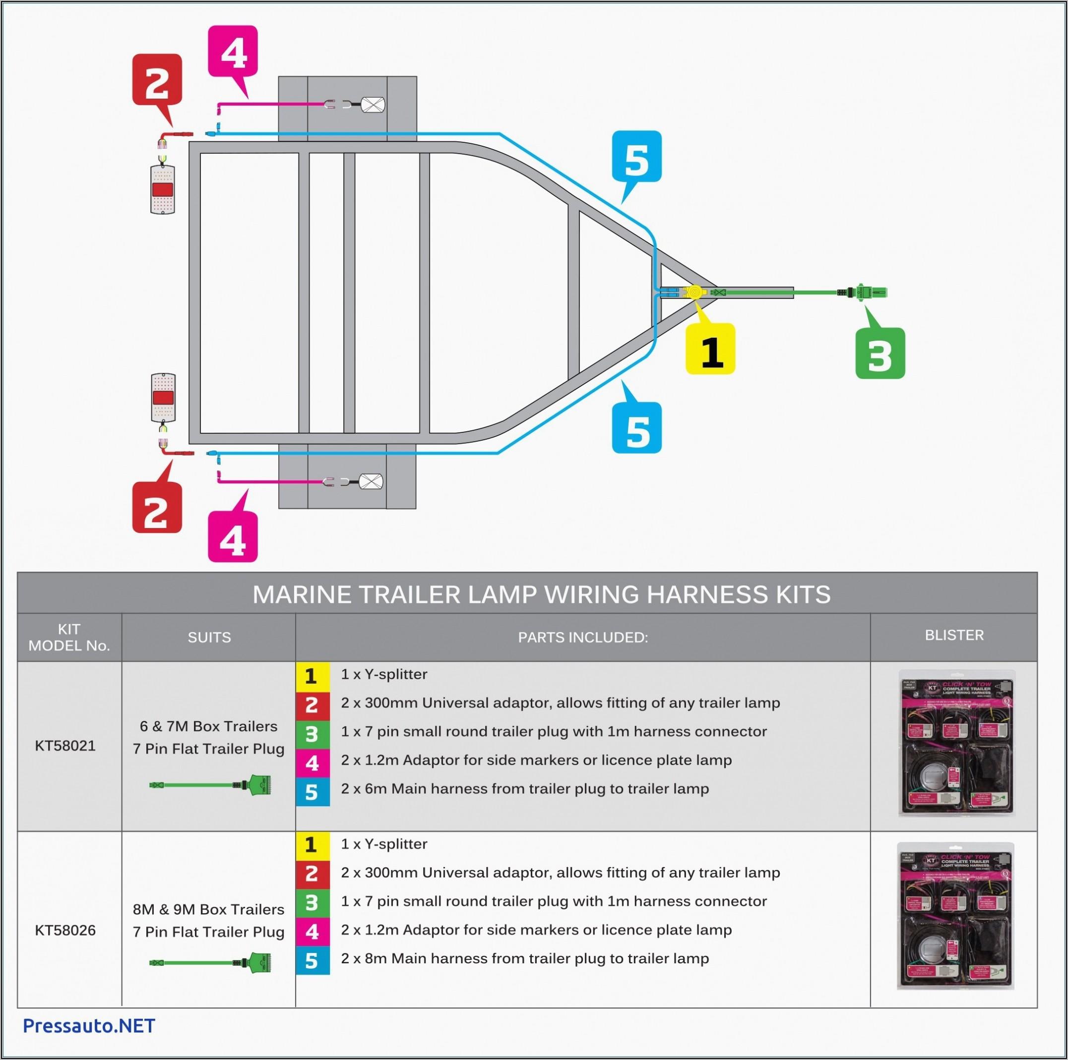 Simple 4 Wire Trailer Diagram
