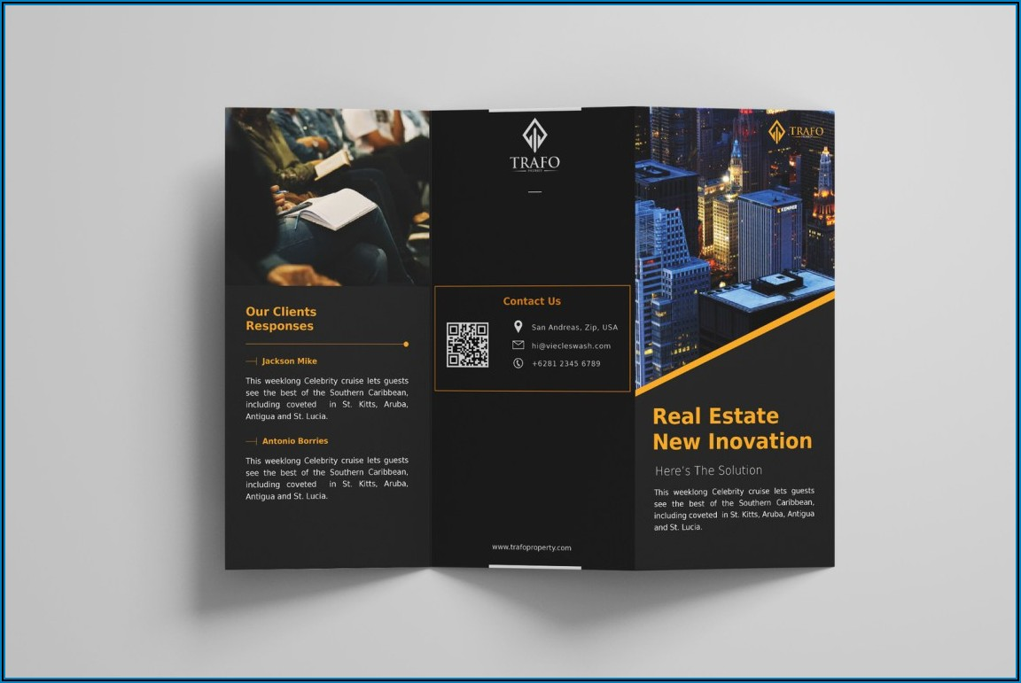 Square Trifold Brochure Template Free