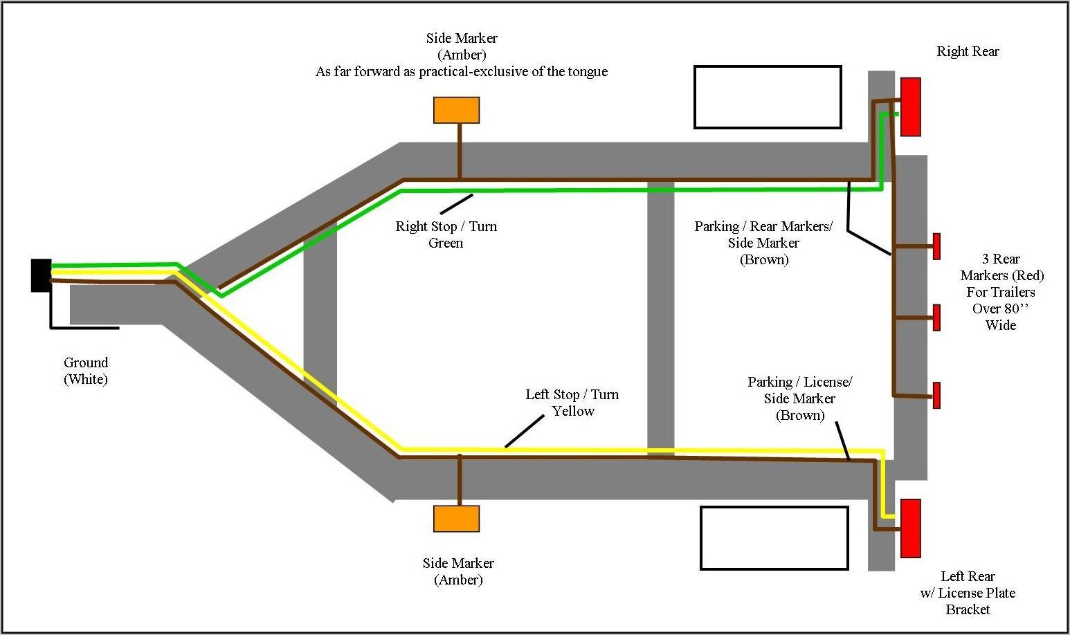 Standard 4 Wire Trailer Wiring Diagram