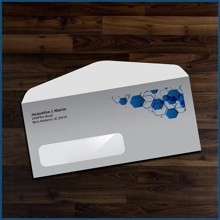 Standard 6x9 Window Envelope Template