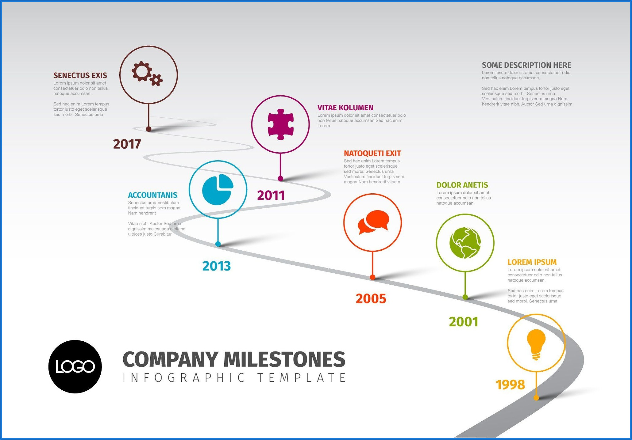 Timeline Infographic Template Free Powerpoint
