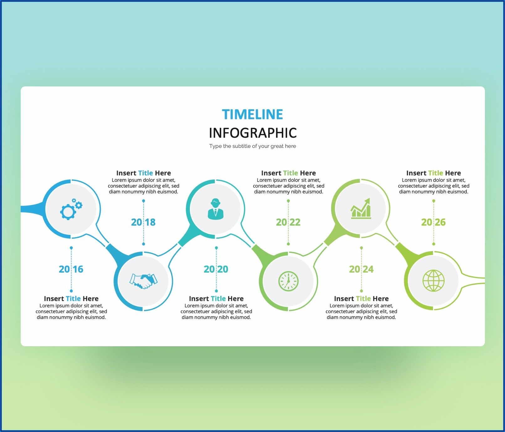 Timeline Infographic Template Free Ppt