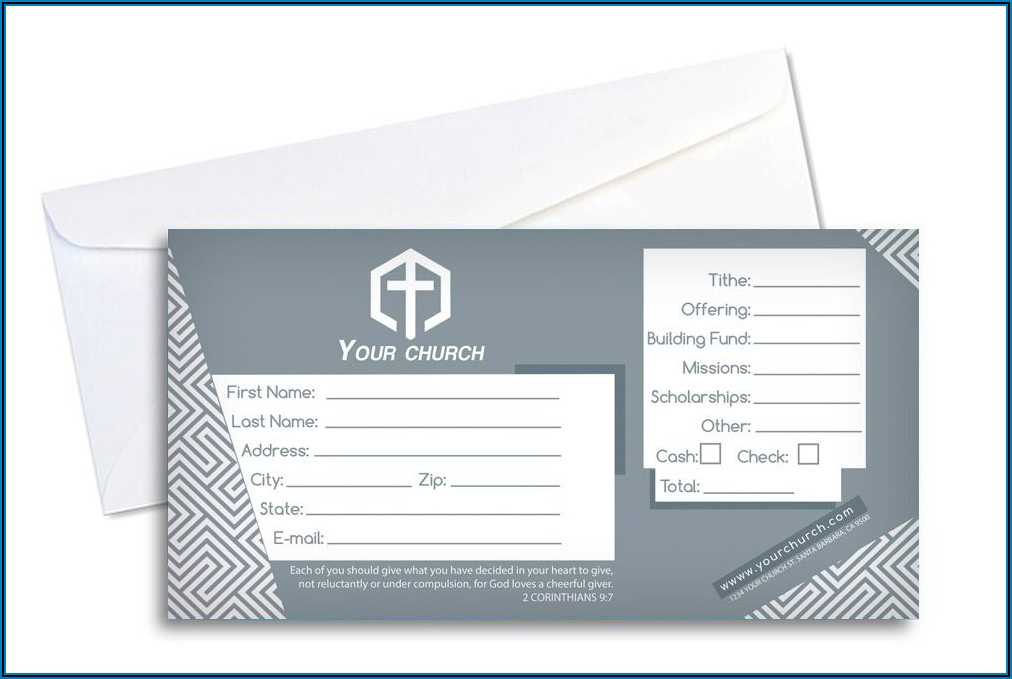 Tithes And Offering Envelope Design