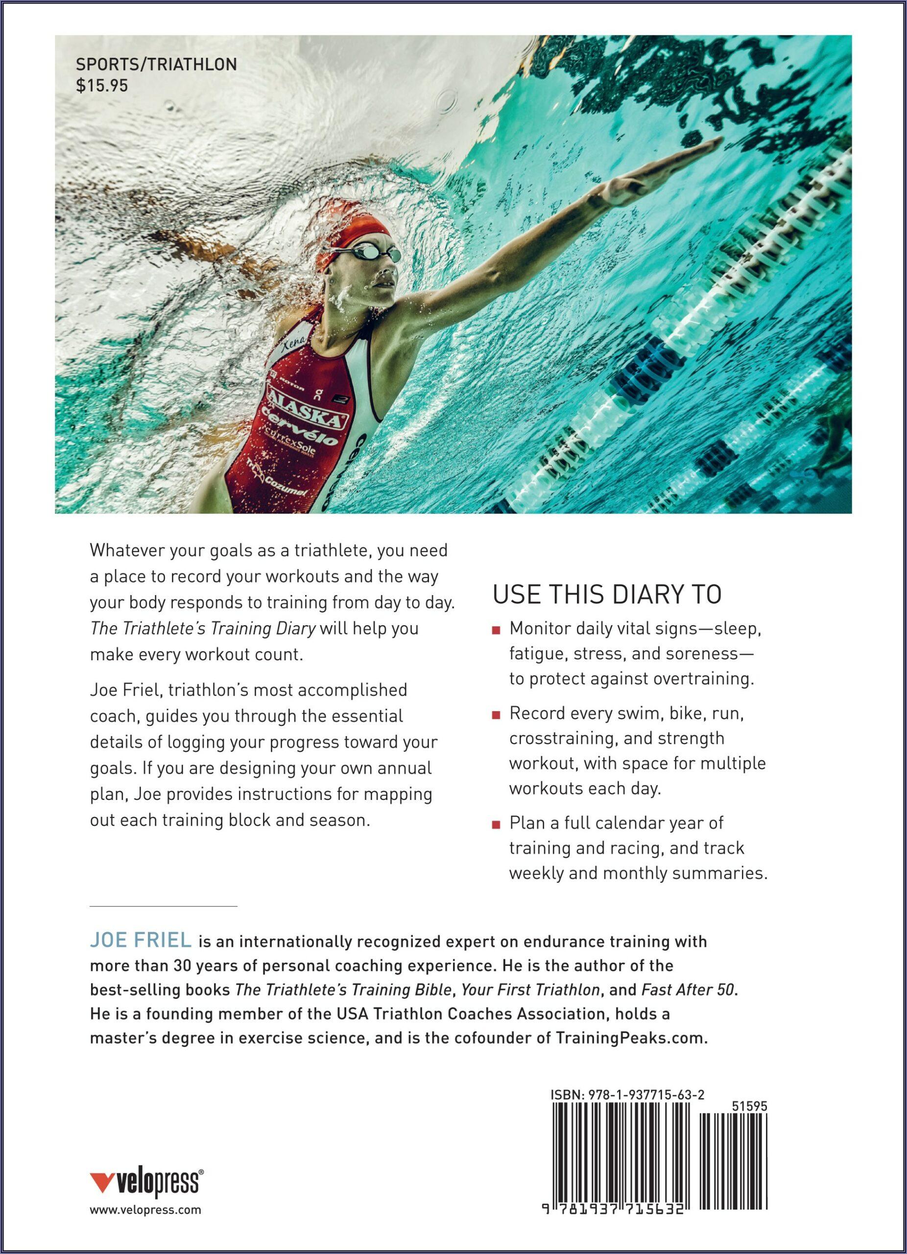 Triathlon Training Log Book Template