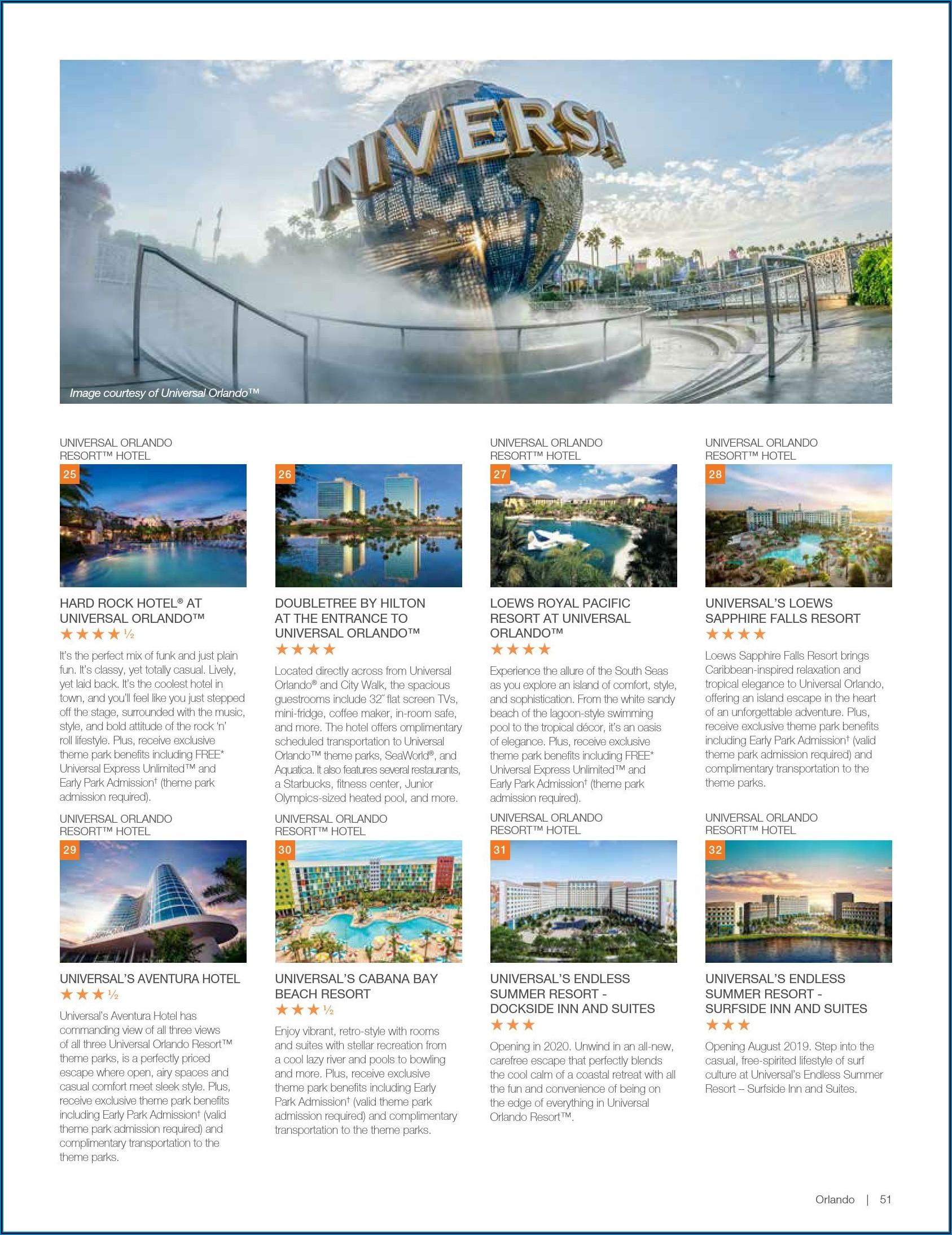 Universal Orlando Brochure 2019