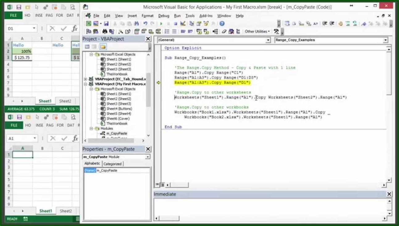 Vba Create New Worksheet And Copy Data