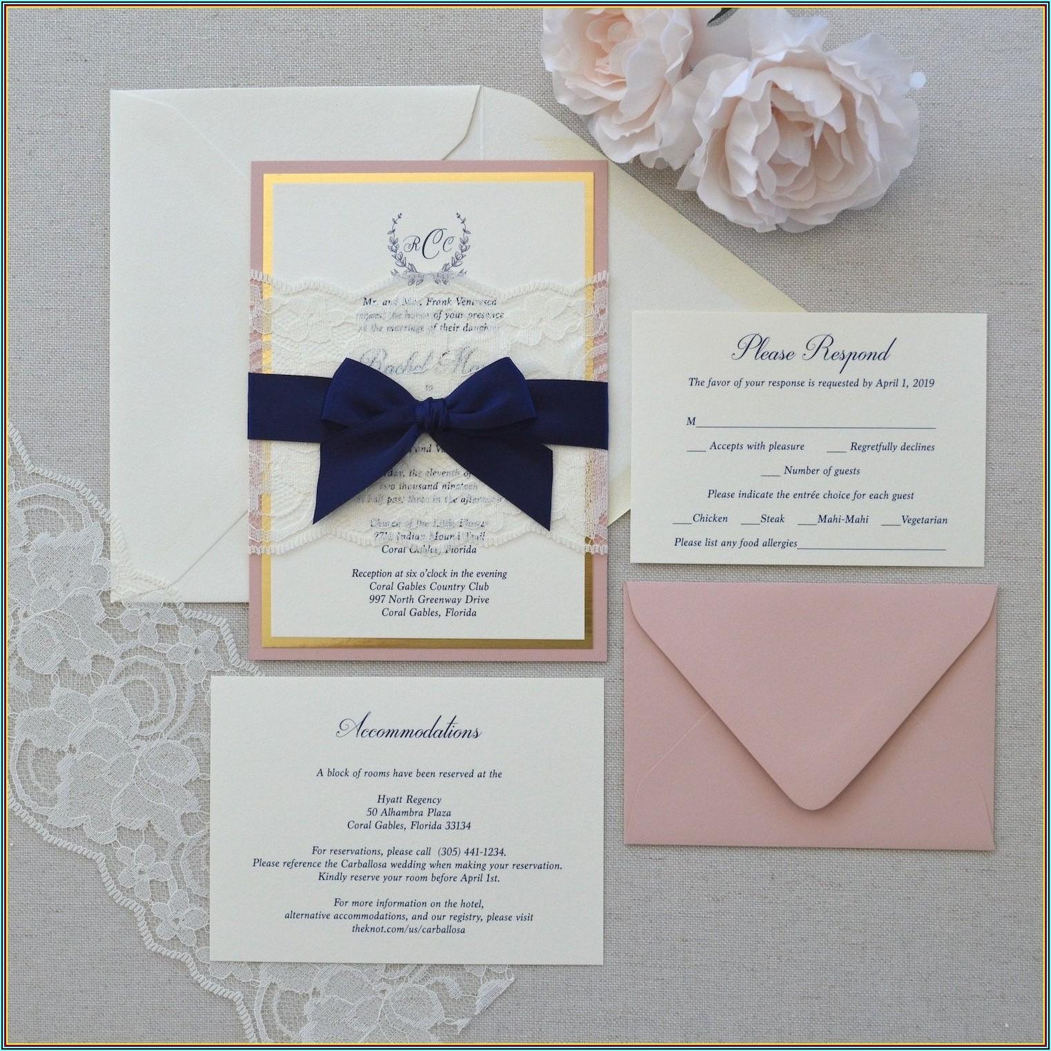 Wedding Invitation Belly Band Alternative
