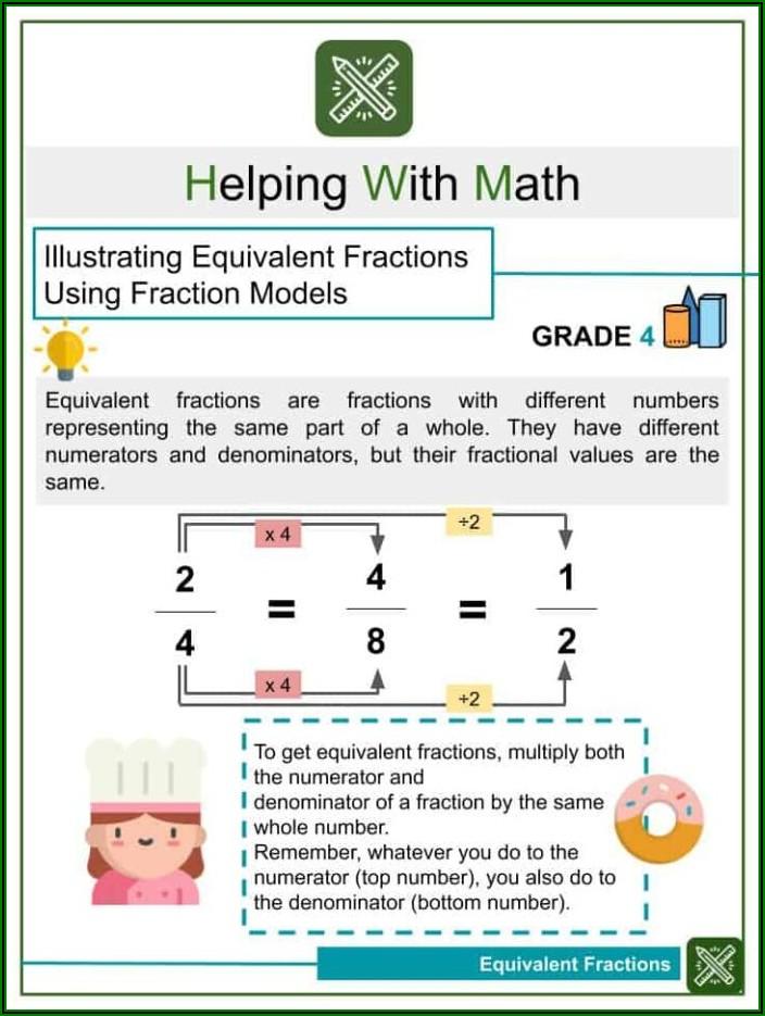 Whole Number Fraction Multiplication Worksheet