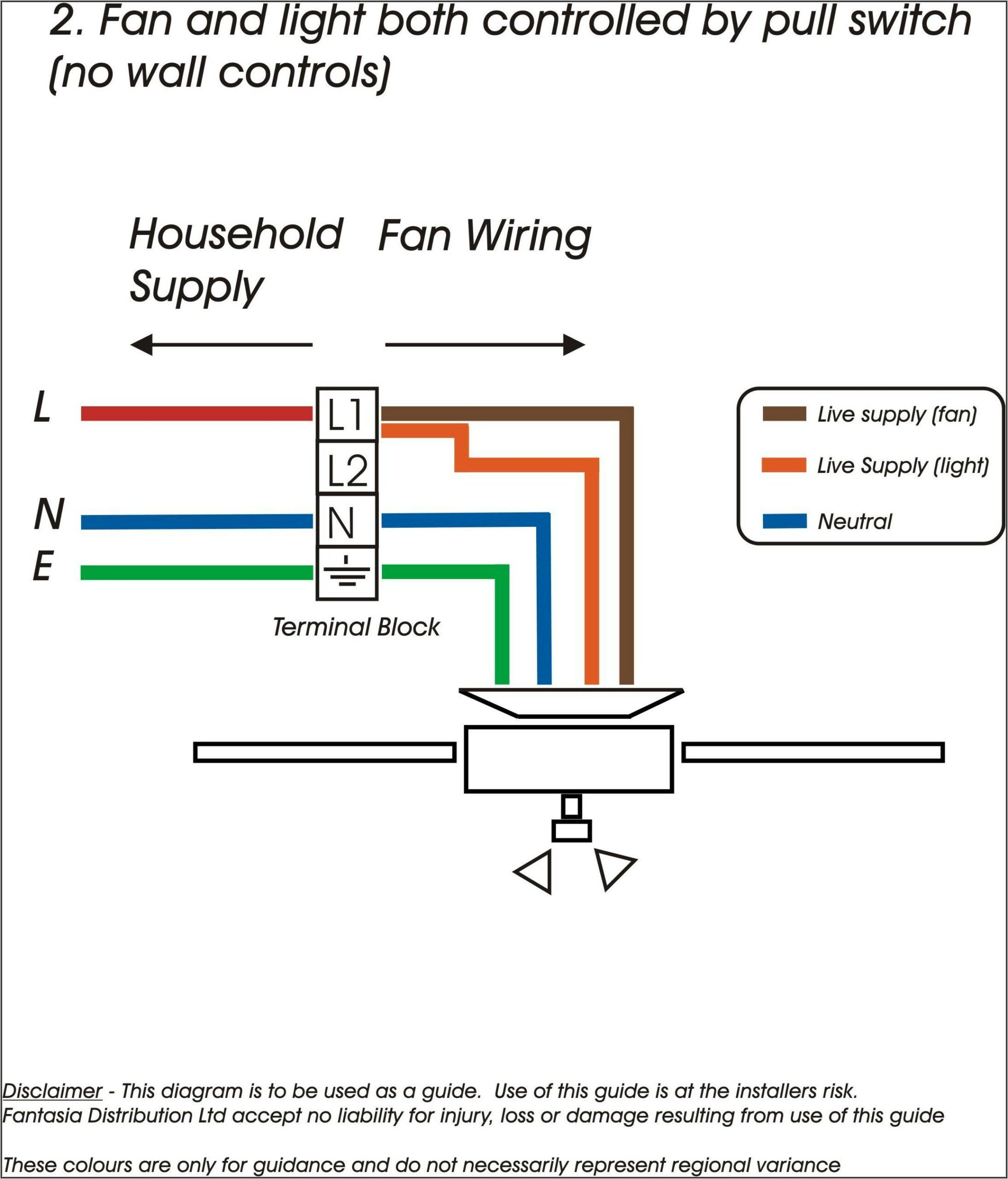 Wiring Diagram Ceiling Fan & Light 3 Way Switch