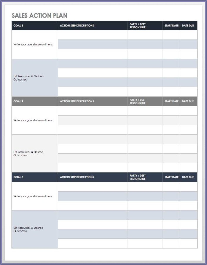 Work Action Plan Template Word