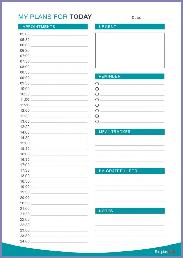 Work Daily Planner Template