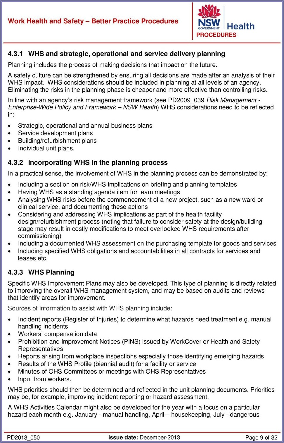 Work Health And Safety Policy Template Nsw