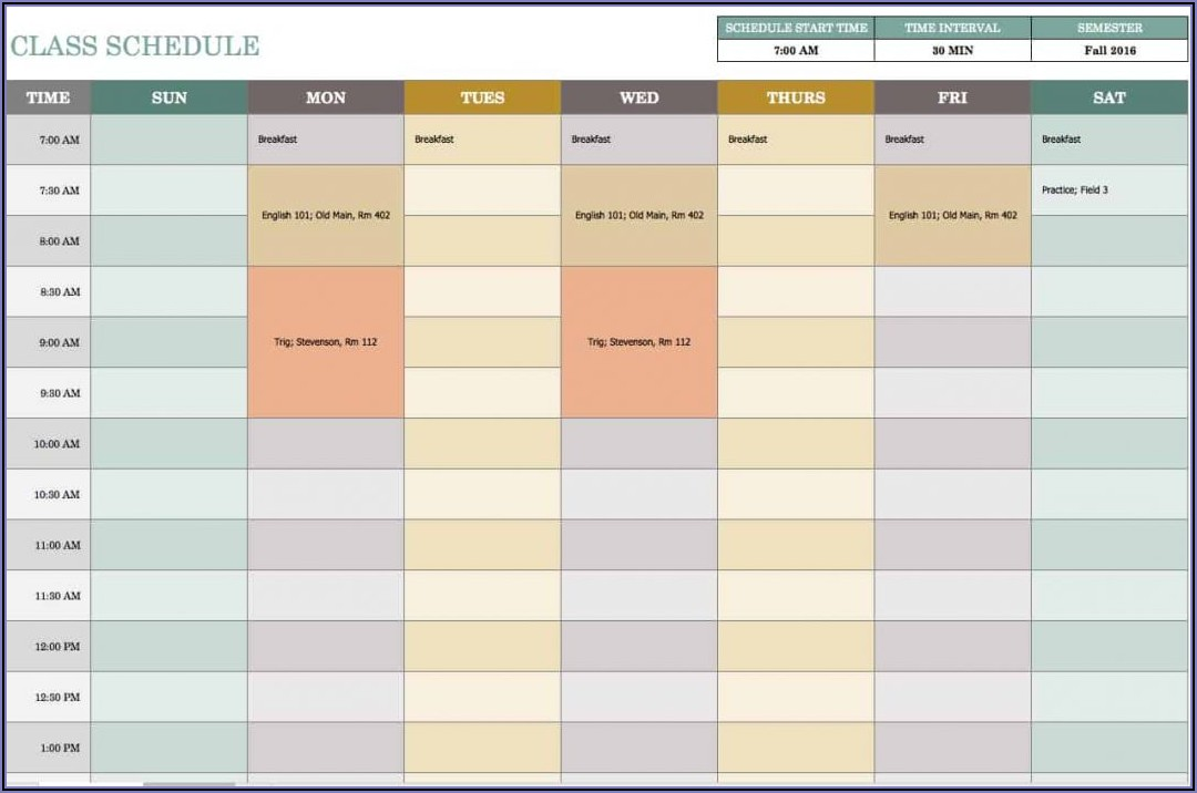 Work Plan Calendar Template 2020