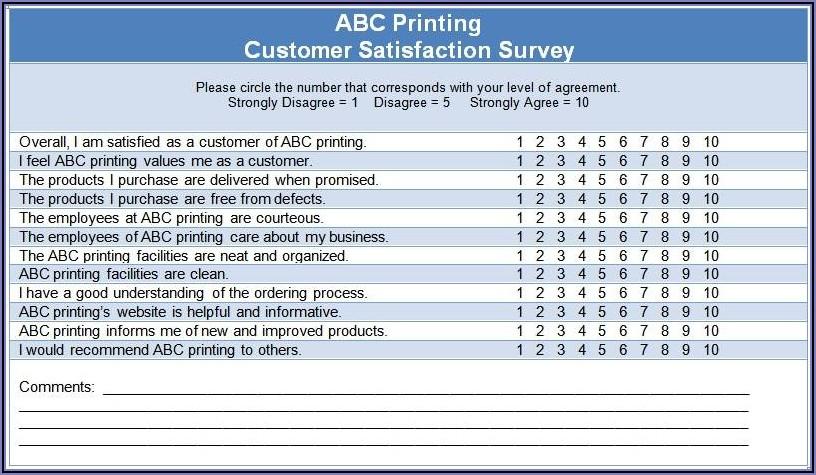 Work Satisfaction Survey Template