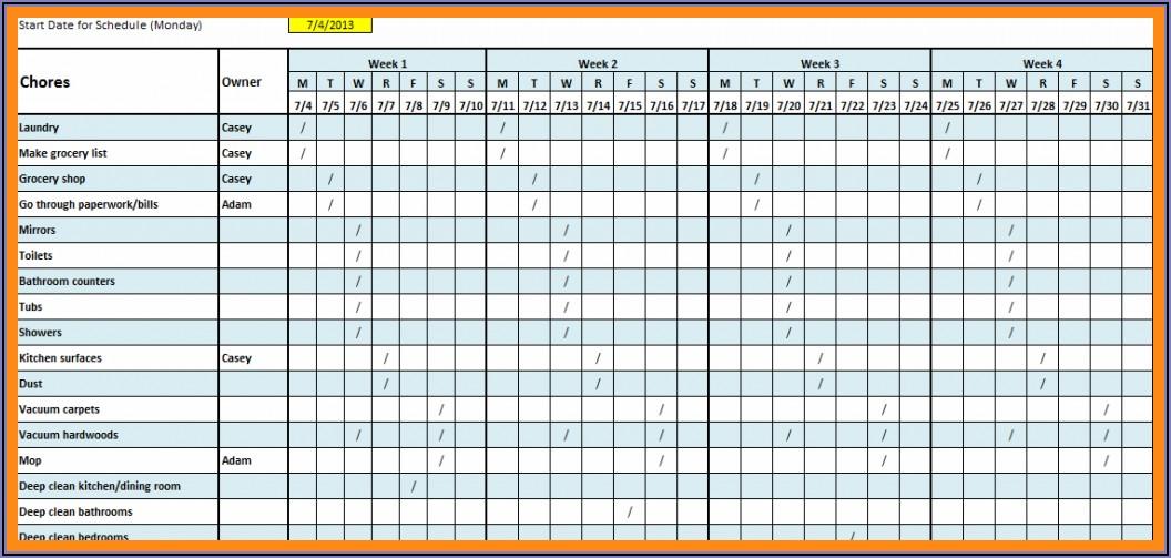 Work Schedule Calendar Template 2020
