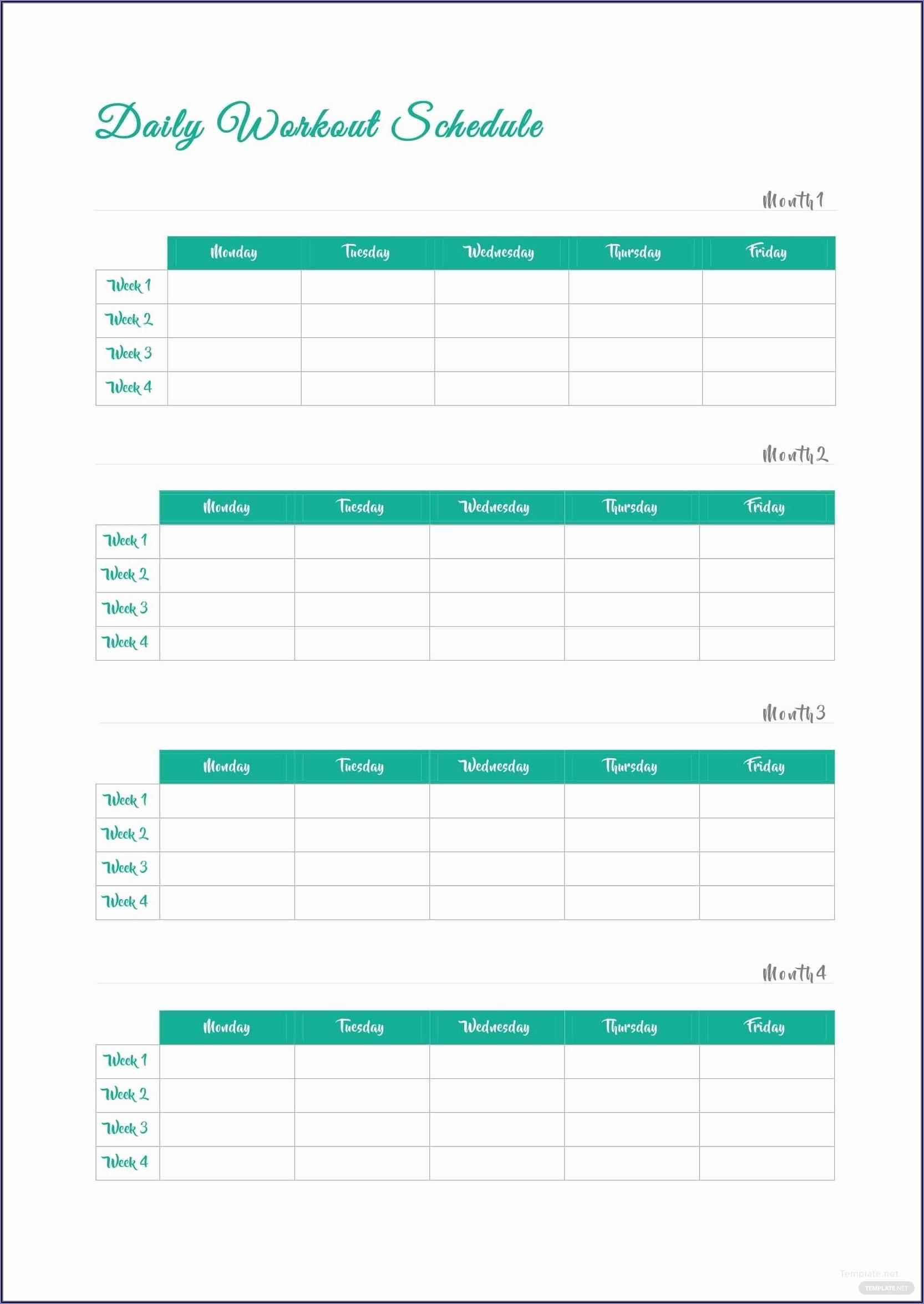 Work Schedule Template Microsoft Word