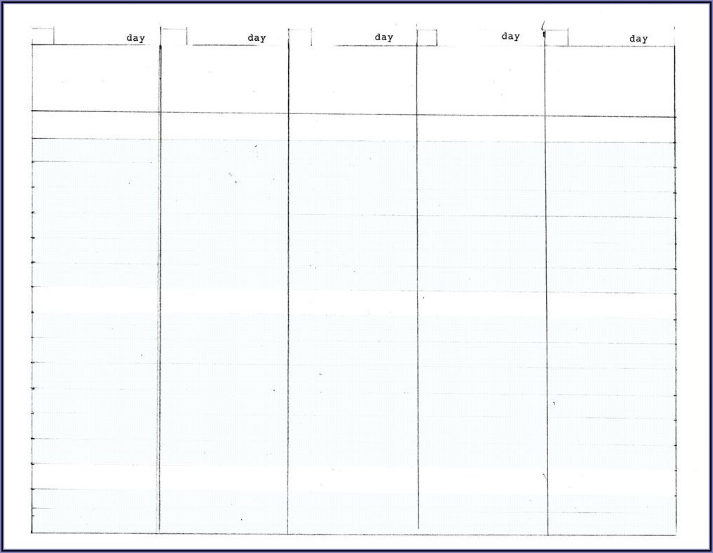 Work Week Planner Template