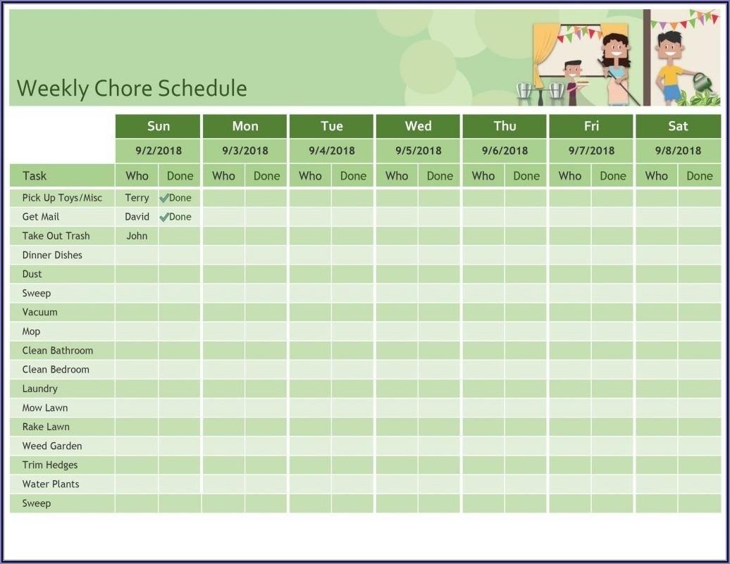 Work Week Schedule Template Excel