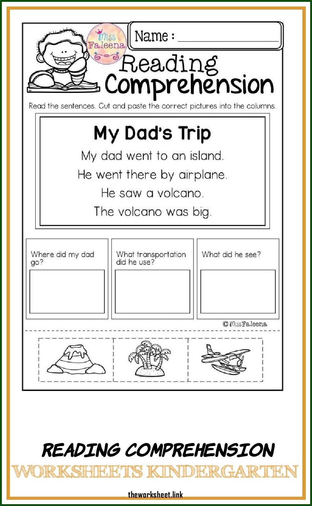 Worksheets For Kindergarten Reading