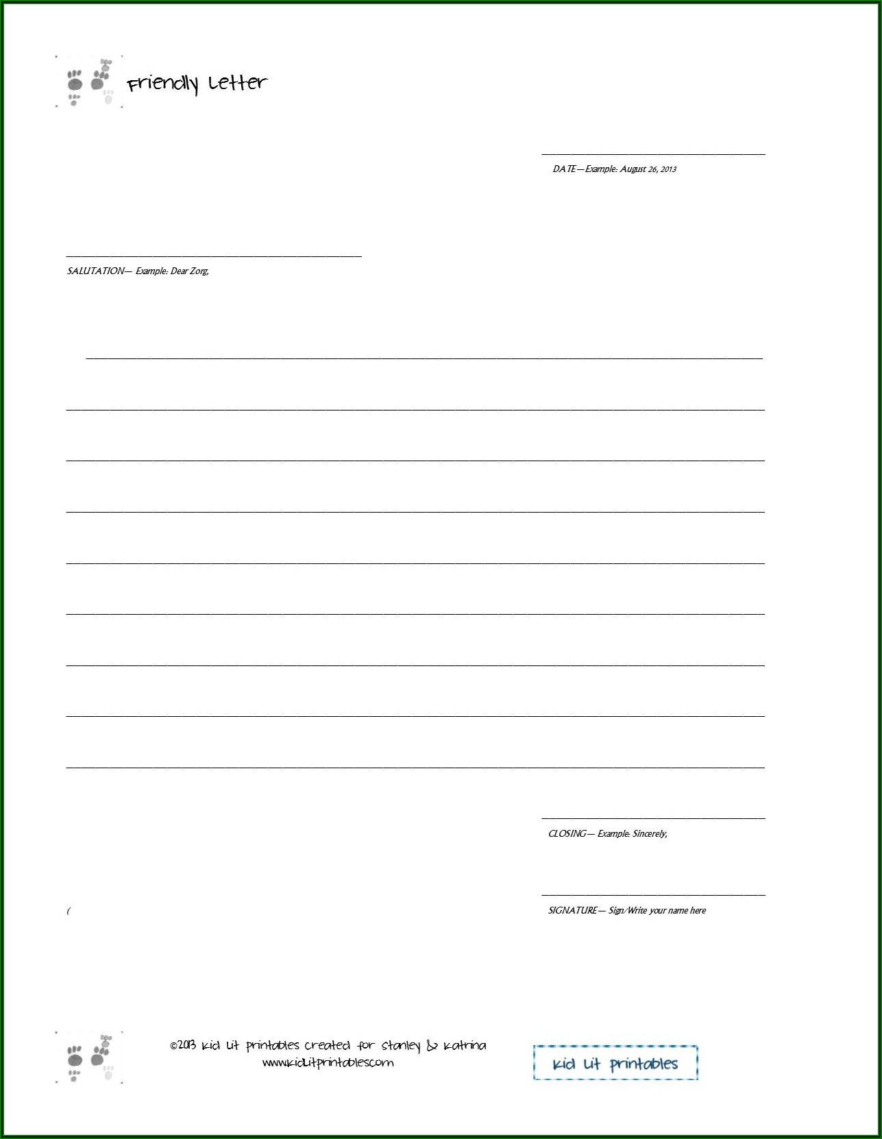 Writing A Formal Letter Worksheet Pdf