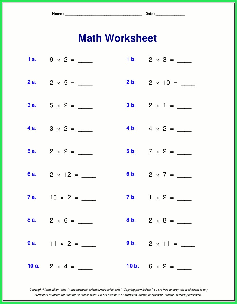 3 Times Table Multiplication And Division Worksheet