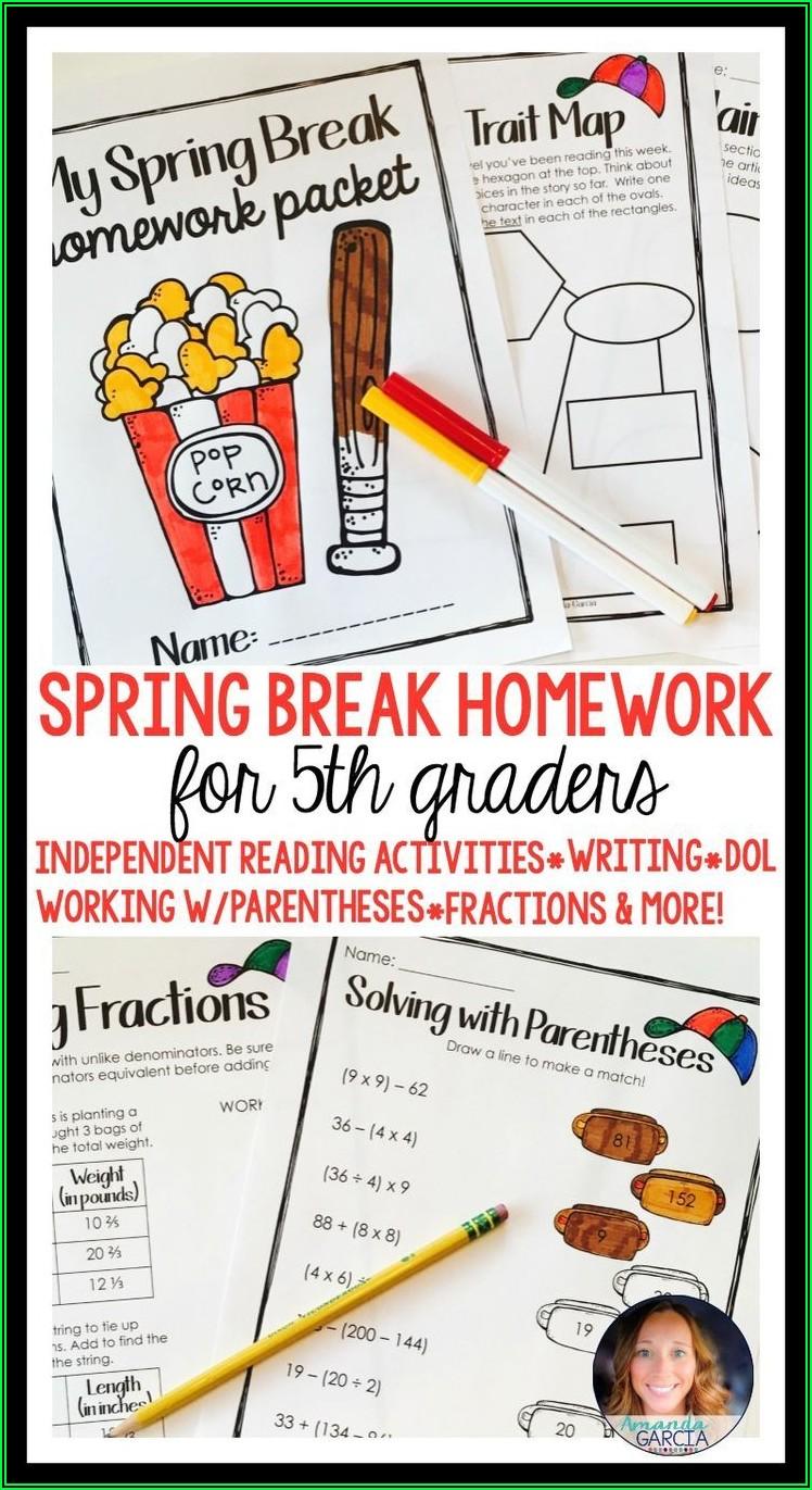 5th Grade Math Homework Packet