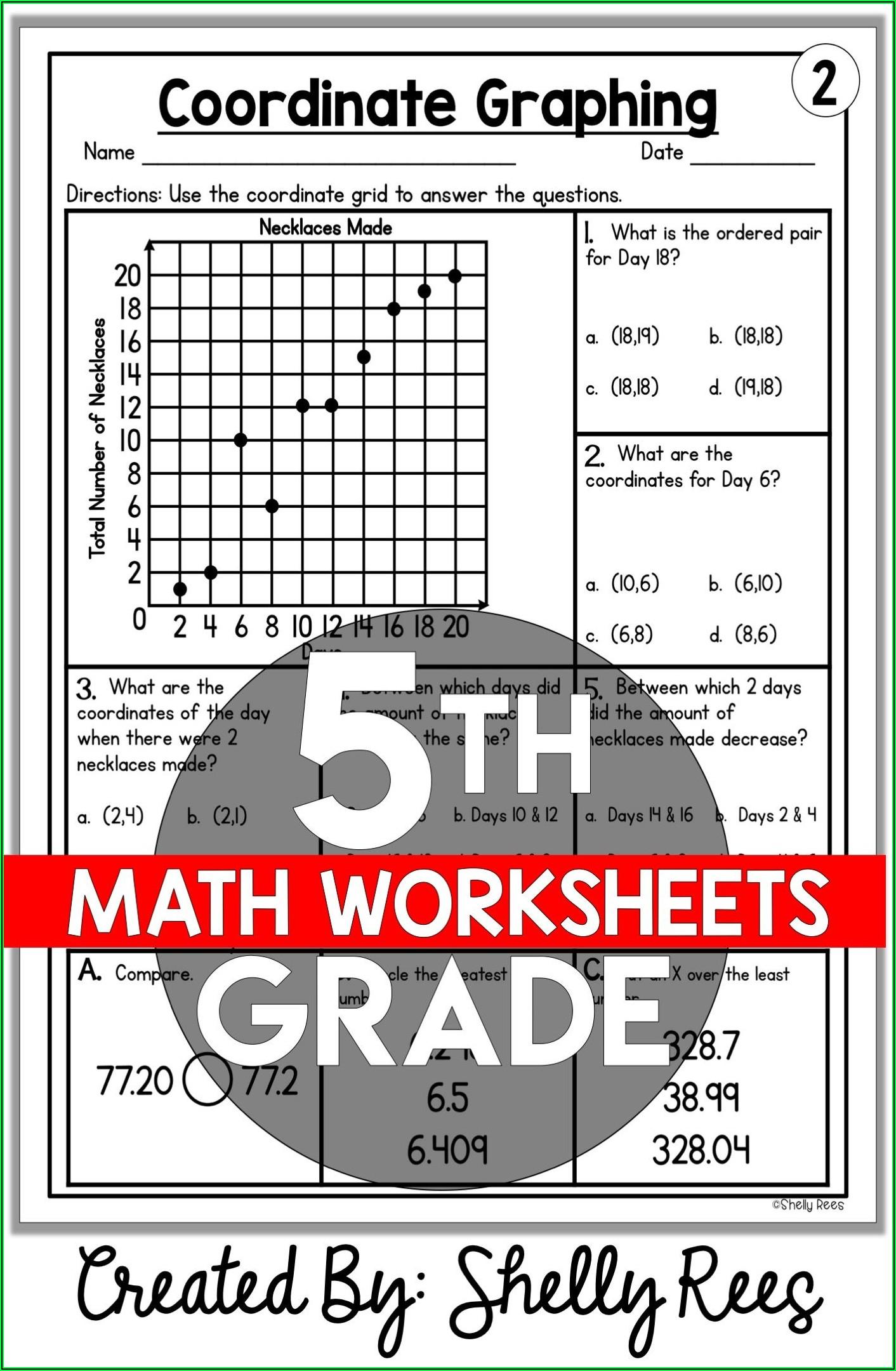 5th Grade Math Printable Worksheets Free