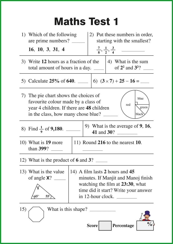 5th Grade Math Worksheets Exponents