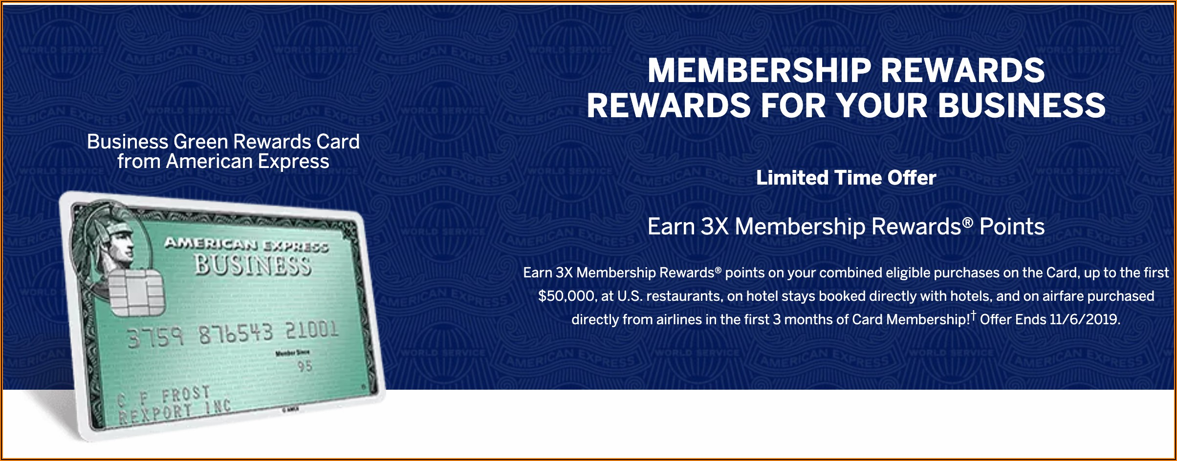 Amex Green Business Card Benefits