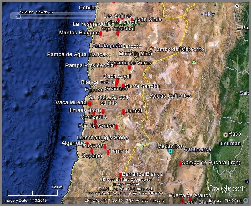 Atacama Desert Chile Google Maps