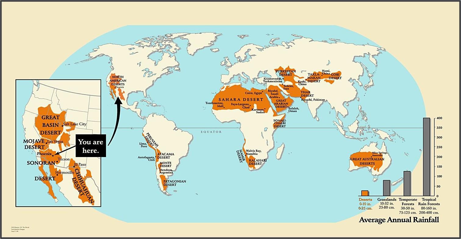 Atacama Desert Location On World Map