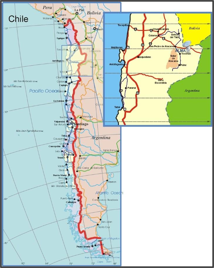 Atacama Desert Map Location