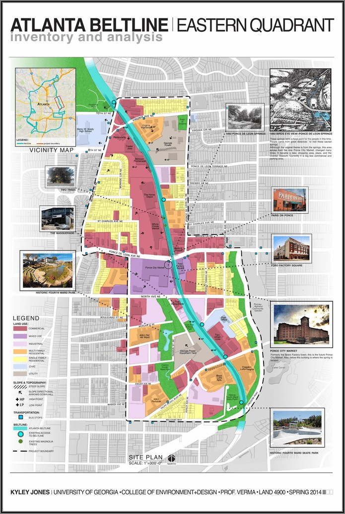 Atlanta Beltline Map Ponce City Market