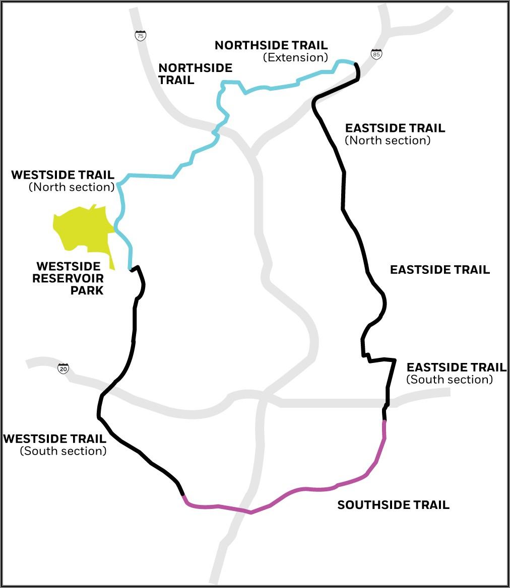 Atlanta Beltline Southside Trail Map