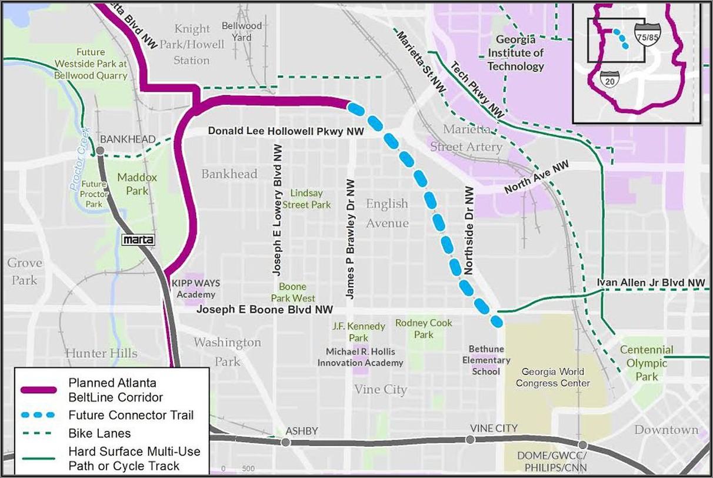Atlanta Beltline Trail Map