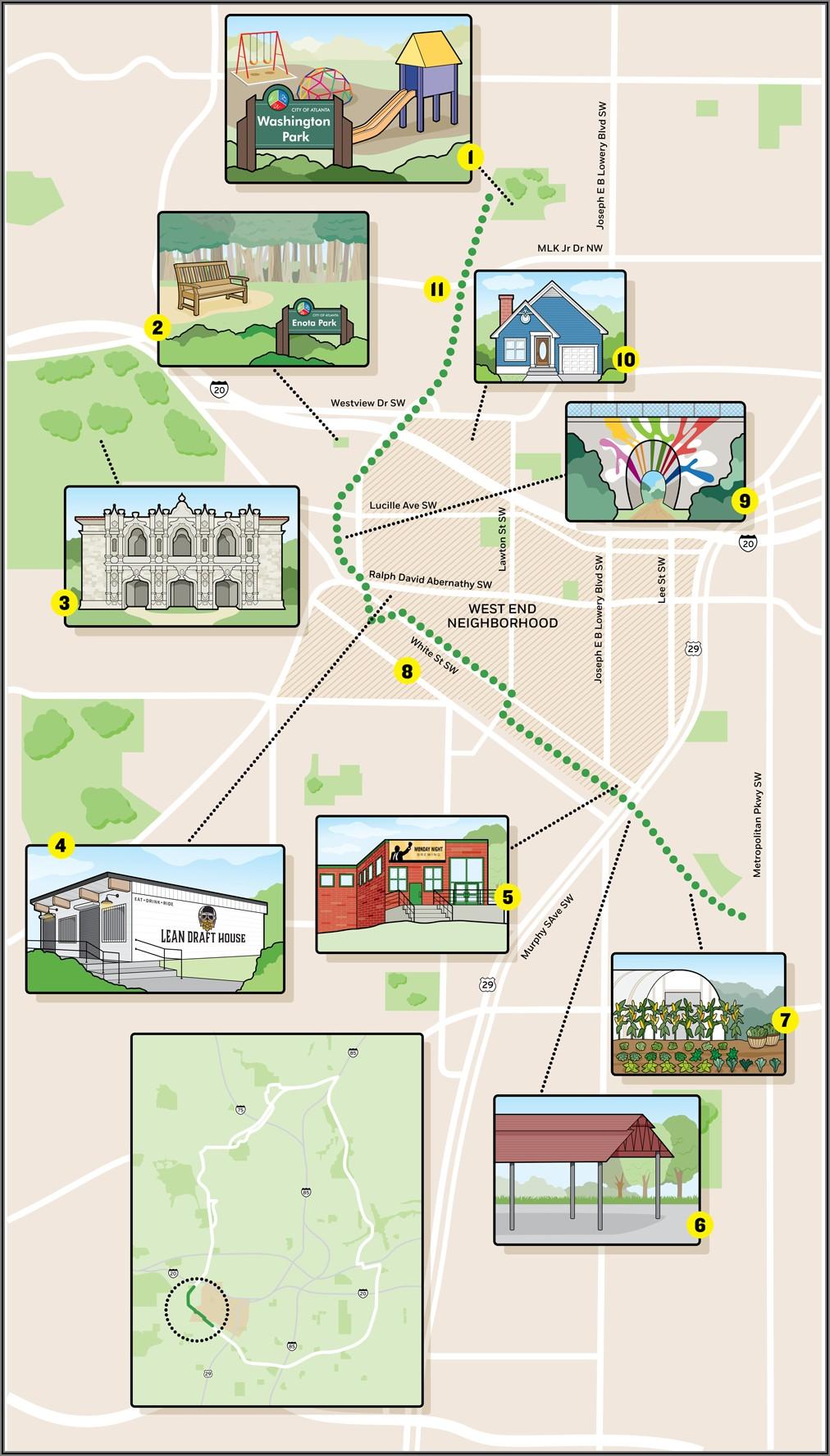 Atlanta Beltline Westside Trail Map