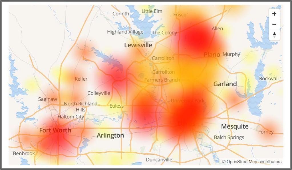 Att Internet Outage Map Texas