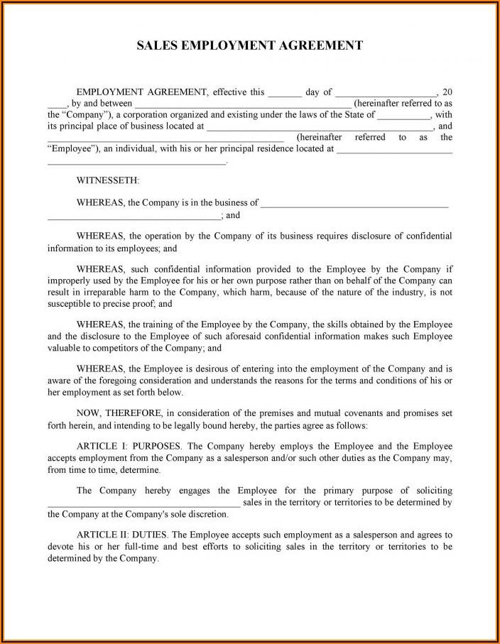 Australia Employment Contract Sample