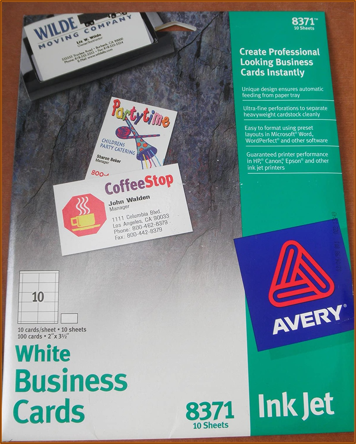 Avery 8371 Business Cards