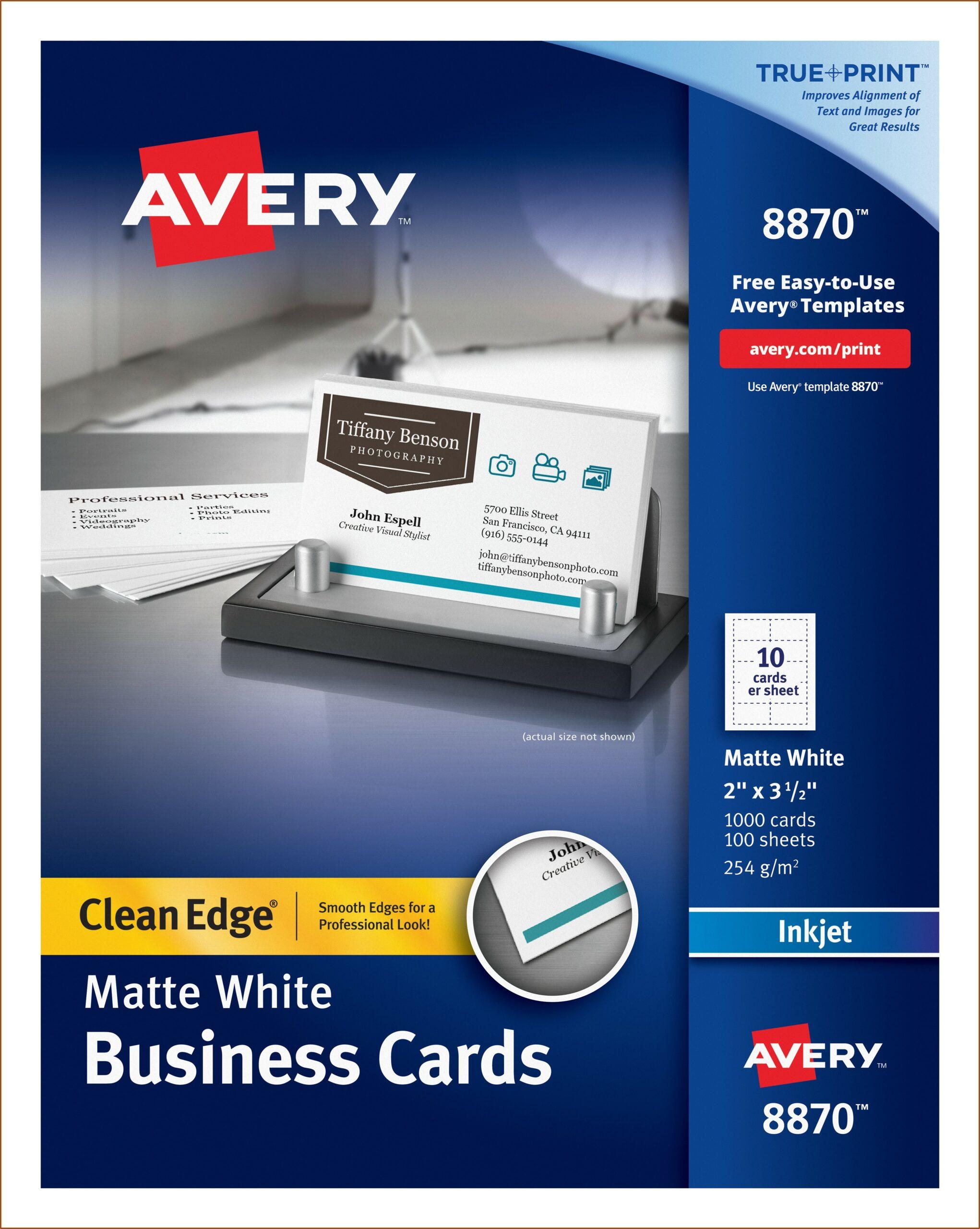 Avery Business Card Paper Walmart
