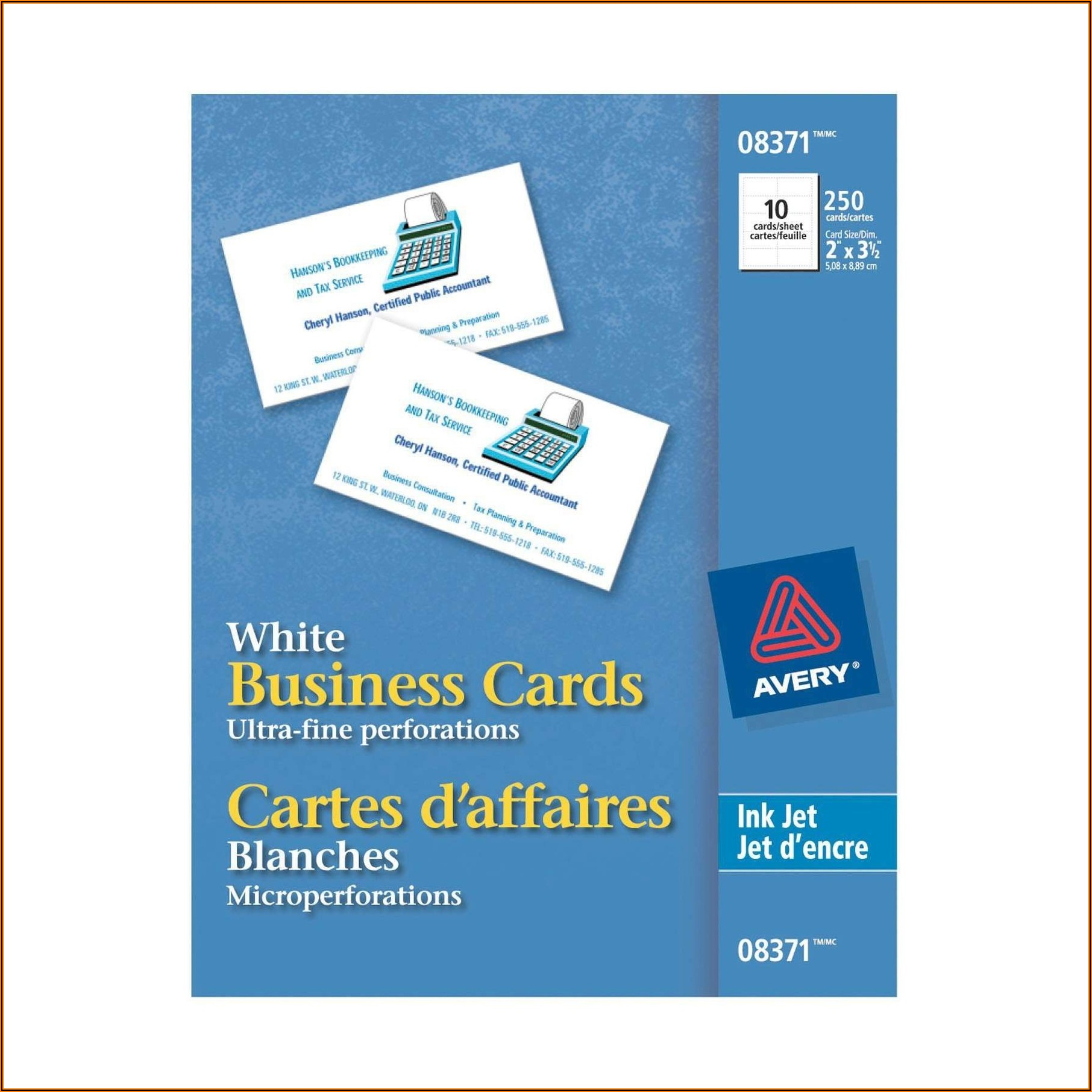 Avery Business Card Paper