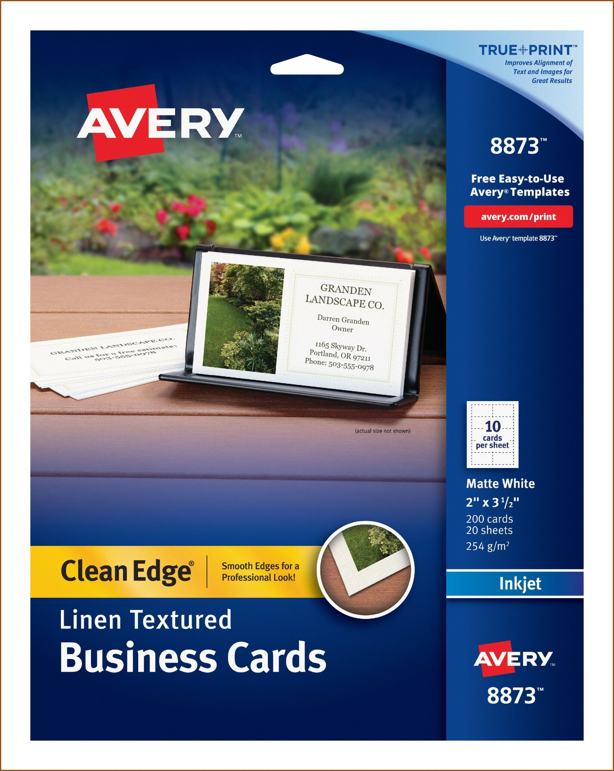 Avery Clean Edge Business Cards 8871
