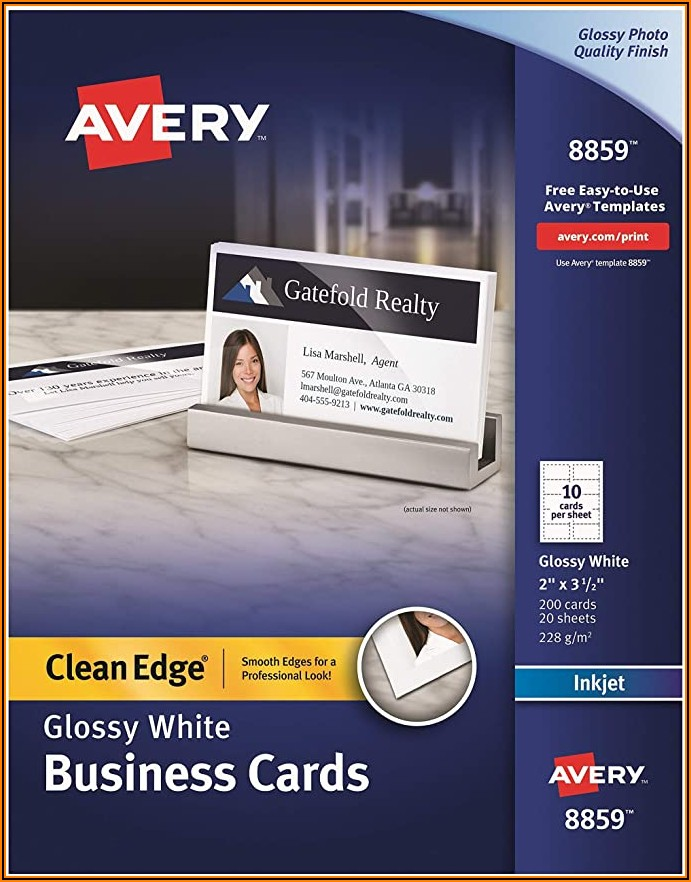 Avery Clean Edge Business Cards Matte 2 X 3 12 90 Cards (28878)