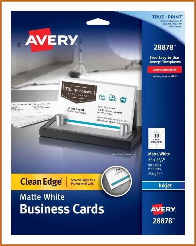 Avery Clean Edge Business Cards Template