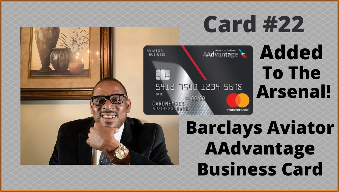 Barclays Aadvantage Aviator Business Card