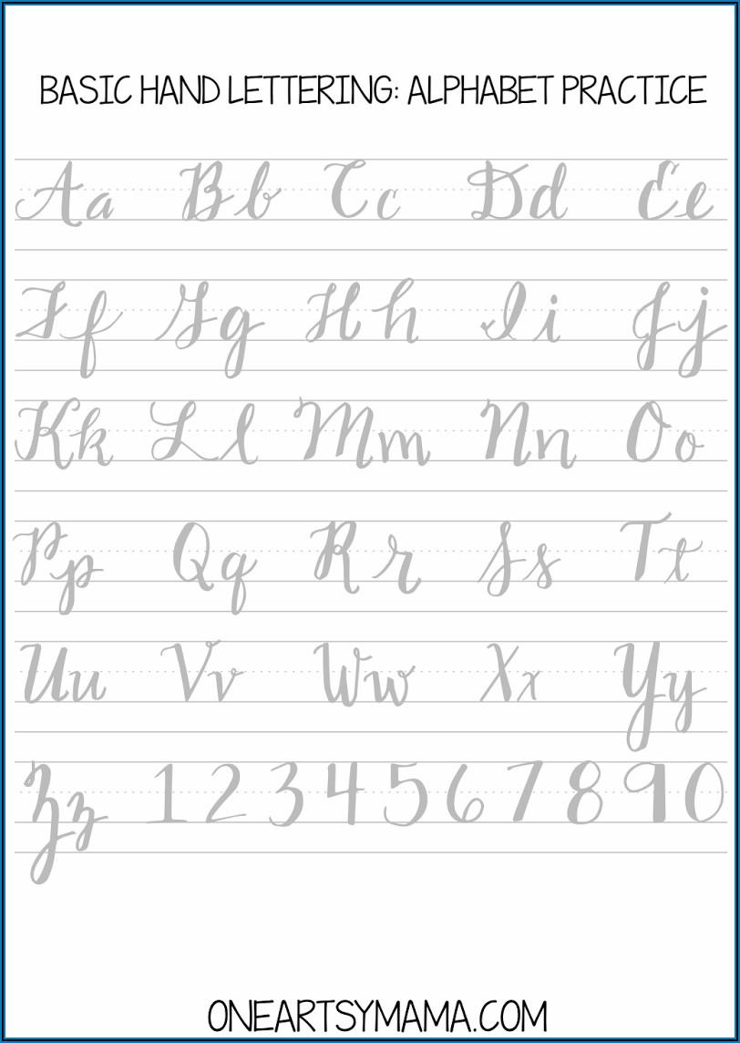 Beginner Calligraphy Practice Sheets Pdf