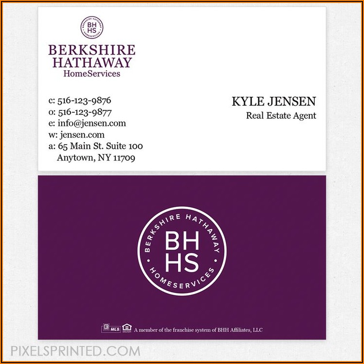 Berkshire Hathaway Real Estate Business Cards