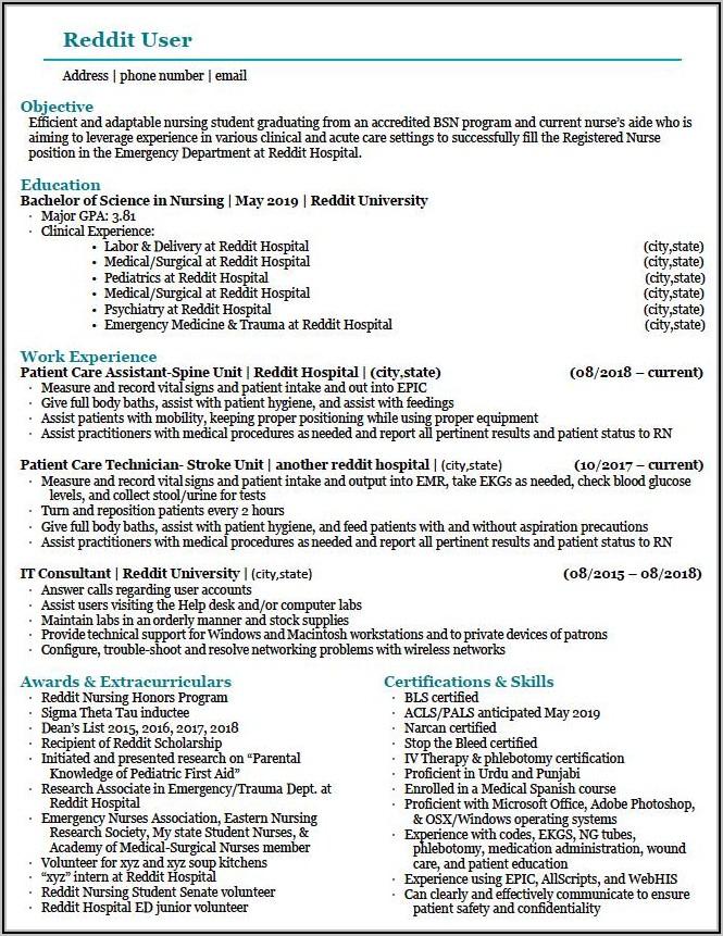 Best Resume Format For Registered Nurse